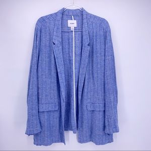 NEW Old Navy Blue Linen Blazer Size XXL